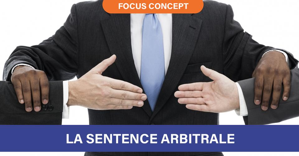 La Sentence arbitrale